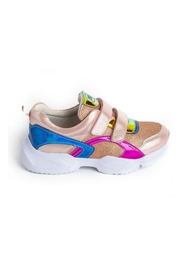minipicco Kız Cocuk Pudra Ortopedik Destekli Çocuk Spor Ayakkabı Pudra